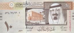 SAUDI ARABIA 10 RIYAL 2012 1433 P-33c KING ABD ALLAH NEW UNC PREFIX 534 */* - Saudi Arabia
