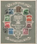 """DEUTSCHES REICH 1940 - Schmuckgedenkblatt """"Tag Der Briefmarke""""  MiNr: 751 - 759   Komplett"""