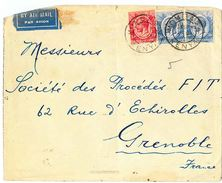LETTERA 1932 DA MOMBASA-KENIA -AFFRANCATURA MULTIPLA KENIA AND UGANDA -BY AIR MAIL (RL173