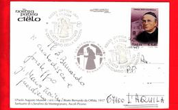 ITALIA - 2004 - Cartolina Viag. - Offida (AP) - 400 Anni Della Nascita Del Beato Bernardo - Mussini - Annullo 07-11-2004