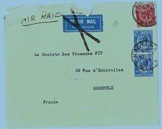 LETTERA 1933 NAIVASHA-KENIA FRANCOBOLLI KENIA AND UGANDA BY AIR MAIL (RL174