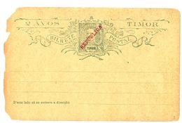 CARTOLINA POSTALE REPUBLICA TIMOR NON VIAGGIATA (CATTIVE CONDIZIONI) PRIMI 900? (RL176