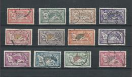 FRANCE 1900 - 12 Timbres - Série Complète - YT N°119 à 240 - Merson Oblitérés - TB COTE 169,50€