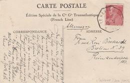 France Cachet Le Havre - New York Sur Carte 1928