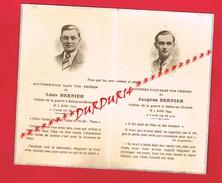 Généalogie ... Double Décès Victime De La Guerre En 1944... M. Léon Et M. Jacques BERNIER... BELLOU EN HOULME ... - Avvisi Di Necrologio