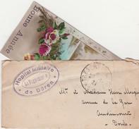 Cachet Hôpital Militaire De Düren (Allemagne) Trésor & Postes 1920 ? / Enveloppe + Carte De Voeux