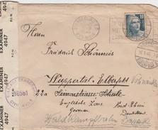 France Timbre N°726 Seul Sur Lettre Censurée Pour L'Allemagne 1946