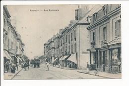 Carte De Saumur  Rue Nationale ( Recto Verso ) - Saumur