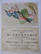 AVRANCHES  Café Du Commerce - Estaminet Bière D'autriche Billard - Carte De Visite  Chromo Oiseau De Paradis - 50 MANCHE - Visitenkarten