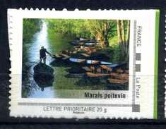 Marais Poitevin , Barques Adhésif Neuf ** . Collector Poitou - Charente 2009 - France