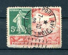 !!! 5C SEMEUSE SUR PORTE TIMBRE DE PORT AVIATION, CACHET DU 7/10/1909 - Erinnophilie