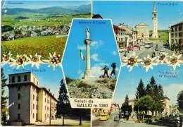 GALLIO  VICENZA  Vedutine  Piazza Italia  Casa Buoni Fanciulli  Madonna Monte Lozze  Edelweiss  Pulmino VW - Vicenza
