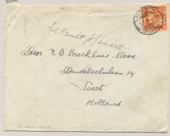 Nederlands Indië - 1935 - 12,5 Cent Wilhelmina Met LB PEMATANGSIANTAR Op Cover Naar Soest / Nederland - Nederlands-Indië