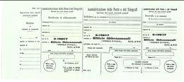 VECCHIO BOLLETTINO POSTALE NUOVO UFFICIO ABBONAMENTI POPOLO ITALIA (RL189 - Italia