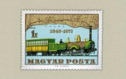 Hungary 1971.Trains - Railways 125. Anniv. In Hungary Stamp MNH (**) Michel: 2682 / 0.70 EUR - Nuovi