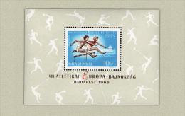 Hungary 1966. Sport / Athletics European Champ. Budapest Sheet MNH (**) Michel:Block 54A / 9 EUR - Unused Stamps