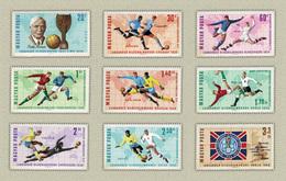 Hungary 1966. Soccer / Football World Cup, England Nice Set MNH (**) Michel: 2242-2250 / 7.50 EUR - Hungary