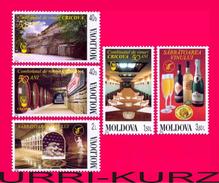 MOLDOVA 2002 Wine Winemaking Winery Cricova 50th Anniversary 5v Mi451-455 Sc432-436 MNH - Wines & Alcohols