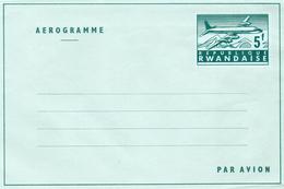Rwanda Entier Aérogramme Repiquage Avion (01406)