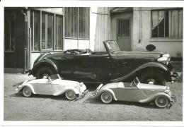CARTE POSTALE VOITURE TRACTION CABRIOLET + TRACTIONS ENFANT (1938) -  10X15 CM - PKW