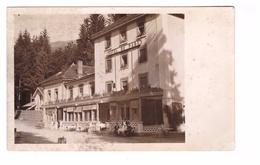38 Uriage Les Bains Carte Photo Cpa Hotel Du Parc Cpa Animée Carte Peu Fréquente - Uriage