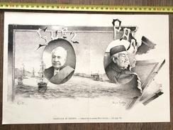 DOCUMENT Avant 1900 FERDINAND DE LESSEPS DE MARIE GONTIER SUEZ CANAL PANAMA - Vieux Papiers