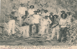 071/25 - NOUVELLE CALEDONIE - Carte-Vue Condamnés Aux Travaux Forcés TP Paix § Commerce NOUMEA 1904 - Briefe U. Dokumente