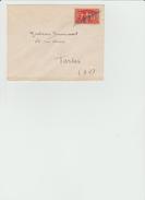 LSC 1949 /   YT 851 Seul Sur Lettre / Annulation Manuelle  (REF 310) - Marcophilie (Lettres)