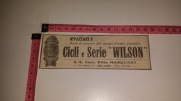 CO-6661 MILANO S.A. SUCC. DITTA MARQUART CICLI E SERIE WILSON ILLUSTRATA PUBBLICITÀ - Vieux Papiers