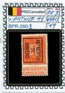 BELGIUM::PRECANCELS  DEFINITIVE SERIE(S) (BPR- 260-1 (19) - Precancels