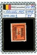 BELGIUM::PRECANCELS  DEFINITIVE SERIE(S) (BPR- 260-1 (21) - Typo Precancels 1912-14 (Lion)