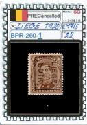 BELGIUM::PRECANCELS  DEFINITIVE SERIE(S) (BPR- 260-1 (22)