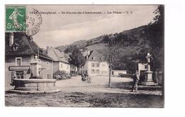 38 St Saint Pierre De Chartreuse La Place Cachet 1916 - Sonstige Gemeinden