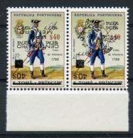 St Thomas And Prince, 1977, UPU Centenary, Inverted Black Overprint Pair, Michel 482-483a - UPU (Universal Postal Union)