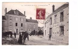 28 Gallardon Le Bureau De Poste PTT Postes Et Telegraphes Mairie Cpa Animée - Other Municipalities