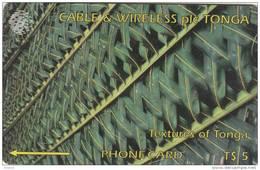 TONGA(GPT) - Textures Of Tonga 1(green), CN : 2CTGA, Tirage 15000, Used - Tonga