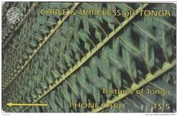 TONGA(GPT) - Textures Of Tonga 1(green), CN : 2CTGA, Tirage 15000, Used