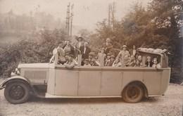 Superbe Carte Photo : L'autocar D'excursion De Lourdes à Gavarnie      En 1932 - Auto's