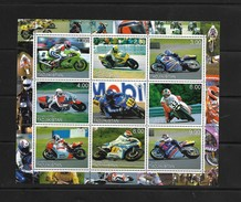 O) 2000 TAJIKISTAN, COMPETITION SPORTS - MOTO GP  CIRCUIT, MOTORCYCLE, MINI SHEET MNH - Tajikistan