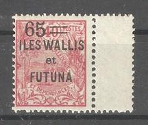 Wallis & Futuna 1925,Surcharged,65c On 40c ,Sc 35 ,VF MNH** Full OG (K-8) - Unused Stamps