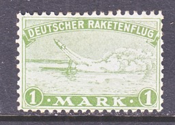GERMANY  ZUCKER  ROCKET  MAIL  1 Bb  Perf. 11   * - Airmail