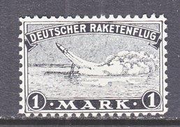 GERMANY  ZUCKER  ROCKET  MAIL  2 B    *  Perf.  10 3/4 X 11 3/4 - Airmail