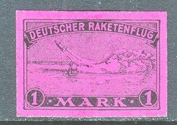 GERMANY  ZUCKER  ROCKET  MAIL  2 C    *  3 Rd  Printing - Airmail