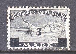 GERMANY  ZUCKER  ROCKET  MAIL  3 B  * - Airmail