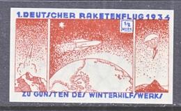 GERMANY  ZUCKER  ROCKET  MAIL  8 A    * - Airmail