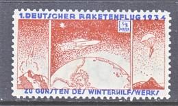 GERMANY  ZUCKER  ROCKET  MAIL  8 B    * - Airmail
