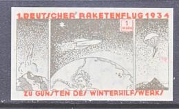 GERMANY  ZUCKER  ROCKET  MAIL  9 A    * - Airmail