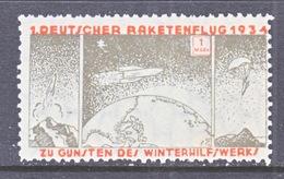 GERMANY  ZUCKER  ROCKET  MAIL  9 B   * - Airmail