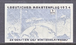 GERMANY  ZUCKER  ROCKET  MAIL  10 A   * - Airmail