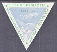 ITALY 2  ZUCKER  ROCKET  MAIL  ITALIA  1  ( TRIESTE )  OCT.  1934 - 1900-44 Vittorio Emanuele III